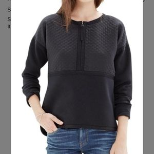 Madewell Black Stitchblock Pullover Sweater (SZ.S)